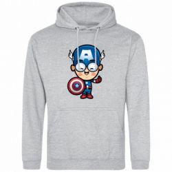 Мужская толстовка Маленький Капитан Америка - FatLine