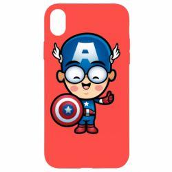 Чехол для iPhone XR Маленький Капитан Америка