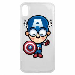 Чехол для iPhone Xs Max Маленький Капитан Америка