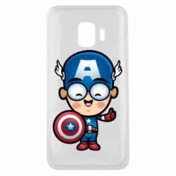 Чехол для Samsung J2 Core Маленький Капитан Америка