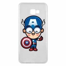 Чехол для Samsung J4 Plus 2018 Маленький Капитан Америка