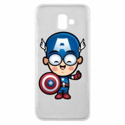 Чехол для Samsung J6 Plus 2018 Маленький Капитан Америка