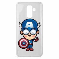 Чехол для Samsung J8 2018 Маленький Капитан Америка