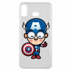 Чехол для Samsung A6s Маленький Капитан Америка