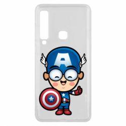 Чехол для Samsung A9 2018 Маленький Капитан Америка