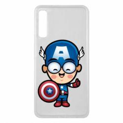 Чехол для Samsung A7 2018 Маленький Капитан Америка
