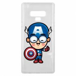 Чехол для Samsung Note 9 Маленький Капитан Америка