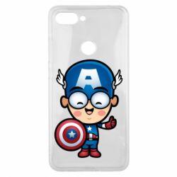 Чехол для Xiaomi Mi8 Lite Маленький Капитан Америка