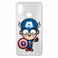 Чехол для Xiaomi Mi Max 3 Маленький Капитан Америка