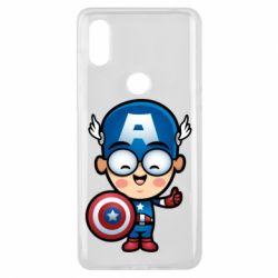 Чехол для Xiaomi Mi Mix 3 Маленький Капитан Америка