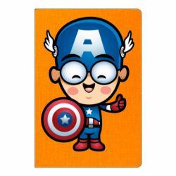 Блокнот А5 Маленький Капитан Америка