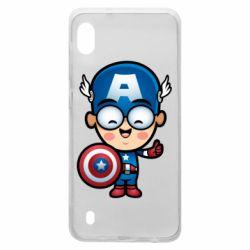 Чехол для Samsung A10 Маленький Капитан Америка