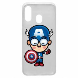 Чехол для Samsung A40 Маленький Капитан Америка