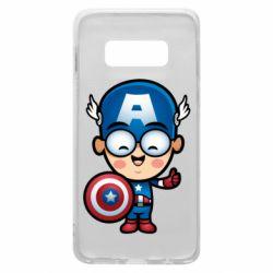 Чехол для Samsung S10e Маленький Капитан Америка