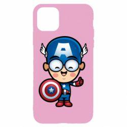 Чехол для iPhone 11 Маленький Капитан Америка