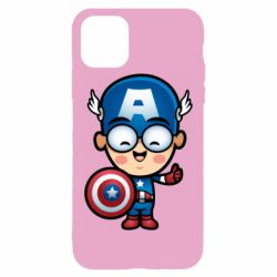 Чехол для iPhone 11 Pro Max Маленький Капитан Америка