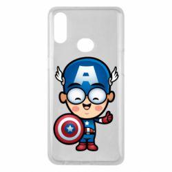 Чехол для Samsung A10s Маленький Капитан Америка