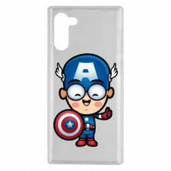 Чехол для Samsung Note 10 Маленький Капитан Америка