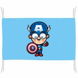 Флаг Маленький Капитан Америка