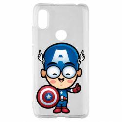 Чехол для Xiaomi Redmi S2 Маленький Капитан Америка