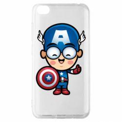 Чехол для Xiaomi Redmi Go Маленький Капитан Америка