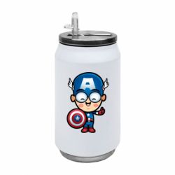 Термобанка 350ml Маленький Капитан Америка