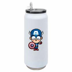 Термобанка 500ml Маленький Капитан Америка