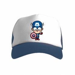 Детская кепка-тракер Маленький Капитан Америка