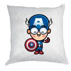 Подушка Маленький Капитан Америка - FatLine