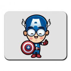 Коврик для мыши Маленький Капитан Америка