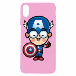 Чехол для iPhone X/Xs Маленький Капитан Америка