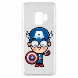 Чехол для Samsung S9 Маленький Капитан Америка