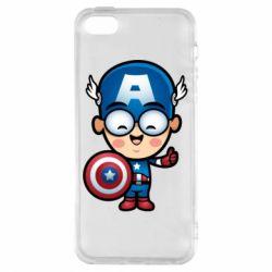 Купить Чехол для iPhone5/5S/SE Маленький Капитан Америка, FatLine