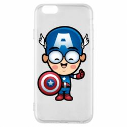 Чехол для iPhone 6/6S Маленький Капитан Америка