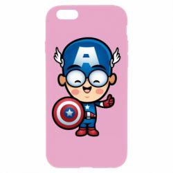 Чехол для iPhone 6 Plus/6S Plus Маленький Капитан Америка