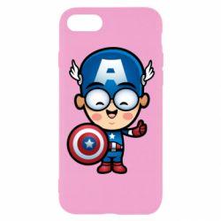 Чехол для iPhone 7 Маленький Капитан Америка