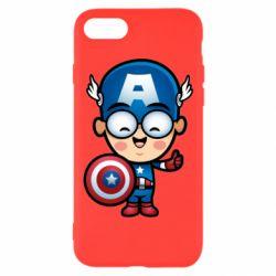 Чехол для iPhone 8 Маленький Капитан Америка
