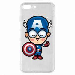 Чехол для iPhone 8 Plus Маленький Капитан Америка