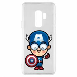 Чехол для Samsung S9+ Маленький Капитан Америка