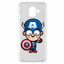 Чехол для Samsung A6 2018 Маленький Капитан Америка