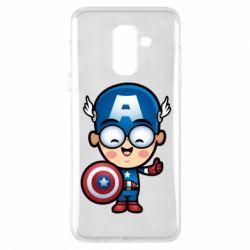 Чехол для Samsung A6+ 2018 Маленький Капитан Америка