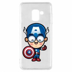 Чехол для Samsung A8 2018 Маленький Капитан Америка