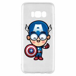 Чехол для Samsung S8 Маленький Капитан Америка