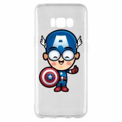 Чехол для Samsung S8+ Маленький Капитан Америка
