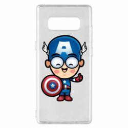Чехол для Samsung Note 8 Маленький Капитан Америка