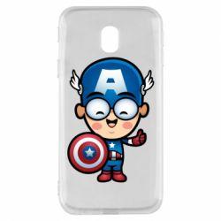 Чехол для Samsung J3 2017 Маленький Капитан Америка