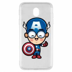 Чехол для Samsung J7 2017 Маленький Капитан Америка