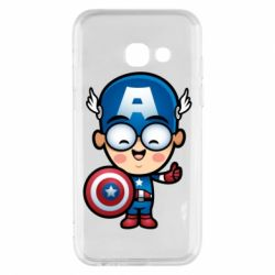 Чехол для Samsung A3 2017 Маленький Капитан Америка