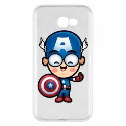 Чехол для Samsung A7 2017 Маленький Капитан Америка