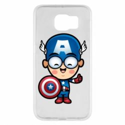 Чехол для Samsung S6 Маленький Капитан Америка